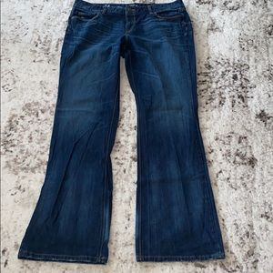 Loft Curvy Boot Jeans 14 Blue